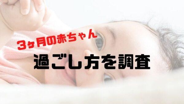 生後3ヶ月の赤ちゃんとどのように一日を過ごしているのか徹底調査